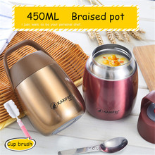 Hot sale 6color Bpa-free Thermal Insulation Stainless steel Braised pot student baby Portable lunch box office family Lunch bag