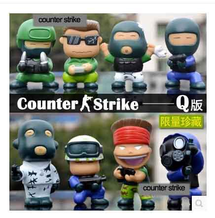 ФОТО Counter Strike Vinly Doll Cute 7-8cm Action Figure For Car Decoration 8pcs/Set Kids Toys