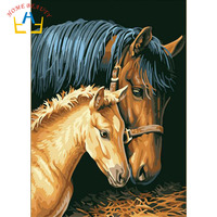 HOME BEAUTY Oil Painting By Numbers Diy Picture Animals Drawing Coloring On Canvas Painting By Hand