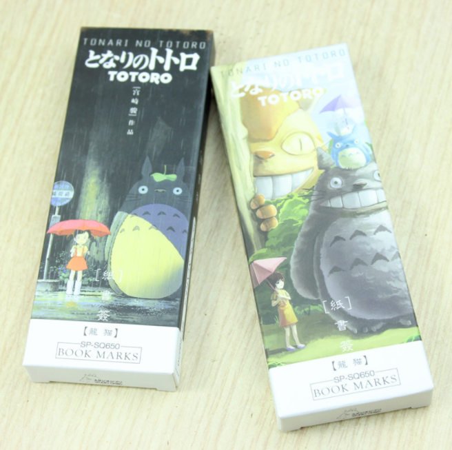 32 Pcs/set Cartoon Cute Totoro Bookmark Anime Paper Page Holder Memo Card Stationery Office School Supplies