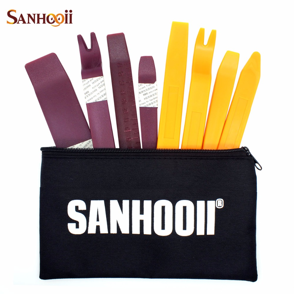 SANHOOII 8in1 Good Quality Hard Auto Radio Interior Door Clip Panel Disassembly Dashboard Trim Removal Repair Tool|Hand Tool Sets|Tools - title=