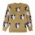 Otoño Invierno Mujeres Suéter Lindo Harajuku Suéter Perro Cara Bordado Más El Tamaño de Punto de la Rebeca Suéteres