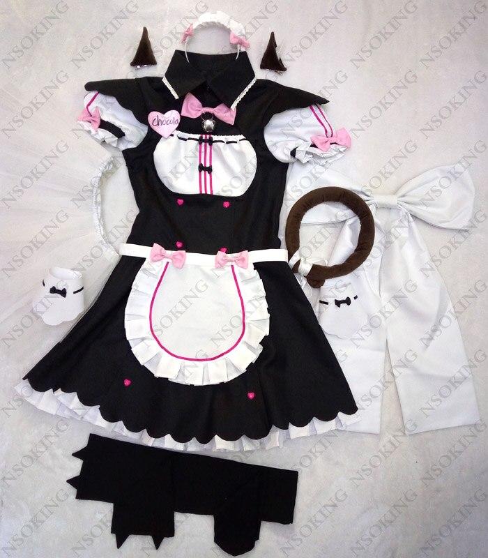 Nekopara Cosplay Chocolat Maid Costume Tailor Made