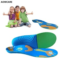 New Kids orthotic insole arch support shoes sole for Children EVA orthopedic flat foot shoes Pads Correction health feet care