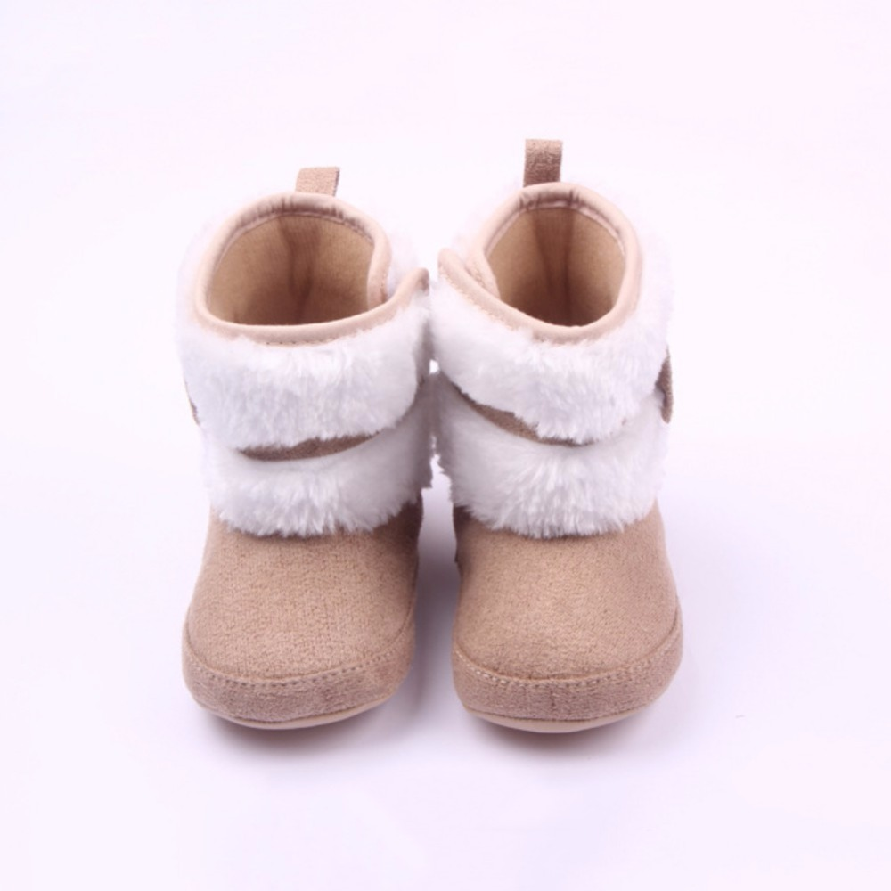 Baby Girls Shoes High Boots Bowknot Kids Walking Soft Sole Cotton Warm Shoes