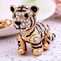Fashion Korean lovely Tiger 3D Personality Car Keychain Bag Charm Purse Pendant Keyring key chain