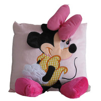 35cm Creative 3D Mickey Mouse And Minnie Mouse Plush Pillow Kawaii Mickey And Minnie Plush Toys