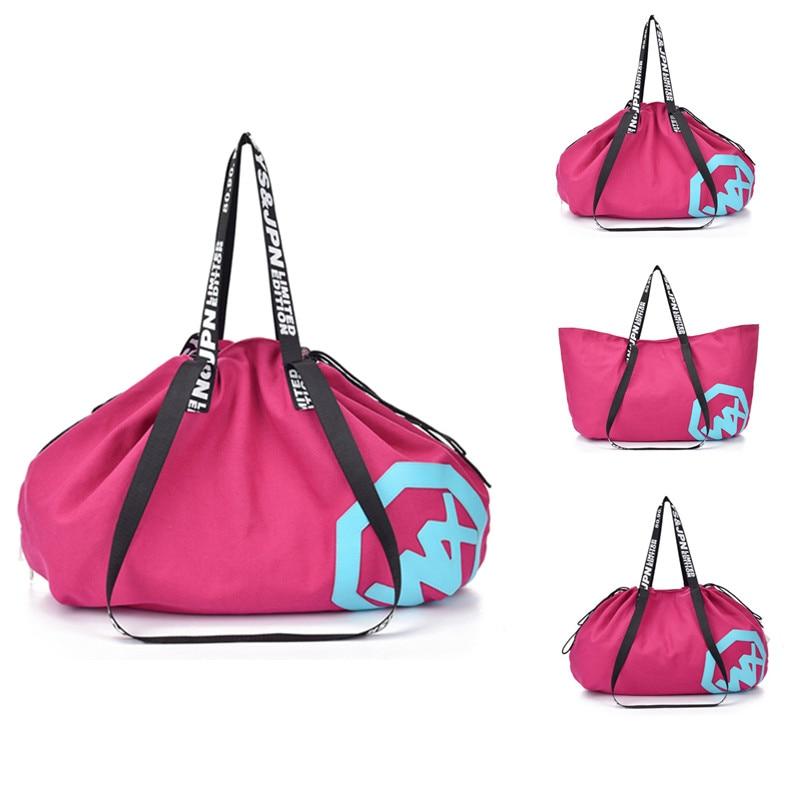 Bag Gym-Bags Handbag Yoga-Mat Sports-Bag Drawstring Travel Fitness Outdoor Women's Canvas