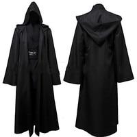 Star Wars Movie Clothing Black Long Cloak Ghost Cosplay Coats Anakin Jedi Knight Anakin Skywalker Cosplay Costumes S 3XL