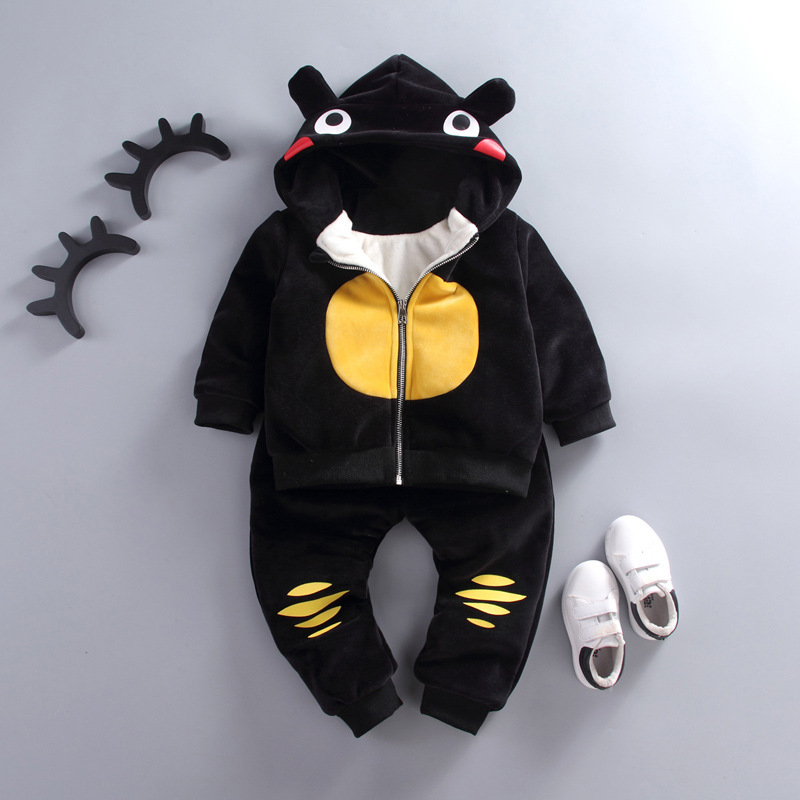 Baby Clothing Sets Winter Girl Boy Long Sleeve Boy Baby Suits Kids Clothes Sets  Warm Baby Girl Hooded T-shirt+Pants 2 Pcs Suits nnw baby boy gentleman clothing 2pcs sets kids party clothes for birthday suits long sleeve vest shirt jeans denims pants