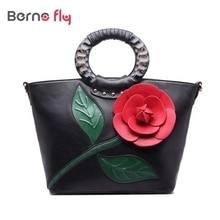 2016 printemps nouvelles femmes sac à main avec une fleur impression de haute qualité PU fourre – tout en cuir sac bandoulière femme sacs rose Hobos sac