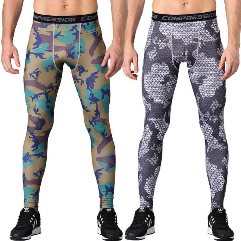 31b393471048c 2018 New men camouflage/compression tights/Leggings Running sports/Gym male  trousers/