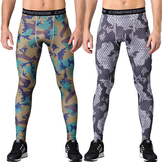 0c811c04e3207 2018 New men camouflage/compression tights/Leggings Running sports/Gym male  trousers/capris of fitness/pants of quick-drying