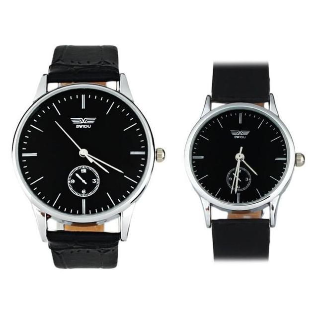 Fashion Mens Watches Top Brand Luxury Leather Quartz Clock Wristwatch Woman Watc