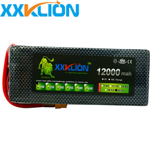 XXKLION Lipo Battery 22.2V 12000mAh 6S 30C For RC Car Airplane Helicopter four axis Parts Drone Lithium Bateria tcb rc drone lipo battery 4s 14 8v 2200mah 25c for rc airplane car helicopter akku 4s batteria cell free shipping