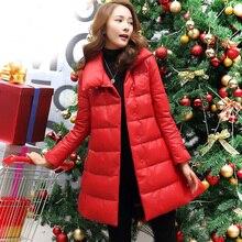Ptslan Luxury Genuine Sheepskin Leather Down Parkas Coat Jacket Autumn Winter Women Warm Outerwear Coats