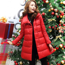 Ptslan Luxury Genuine Sheepskin Leather Down Parkas Coat Jacket Autumn Winter Women Warm Outerwear Coats