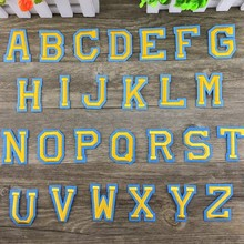 1Pc English Alphabet Embroidery Gold Letter Clothes Cloth Diy Sticker Pattern Decal Sewing Patch