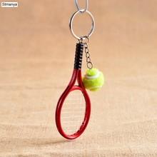 Offre Spéciale Mini Tennis raquette pendentif porte-clés porte-clés anneau porte-clés Finder porte accessoires pour de st valentin cadeaux #17162