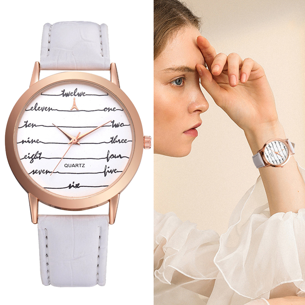Billede af Lvpai Ladies Leather Sport Watch Women Sport Watches Red Clock Letter Women Fashion Wristwatch Female Quartz Watch