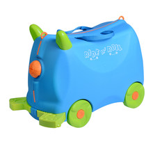 boy Pull rod box Can sit to ride Check box children Lovely animal creative animal locker baby Toy box luggage suitcase giftBags()