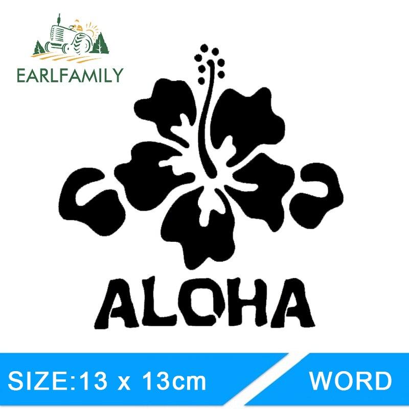 "Aloha Hawaiian Hibiscus FLower Surf Car 8/"" Window Vinyl Decal Sticker 12 COLORS"