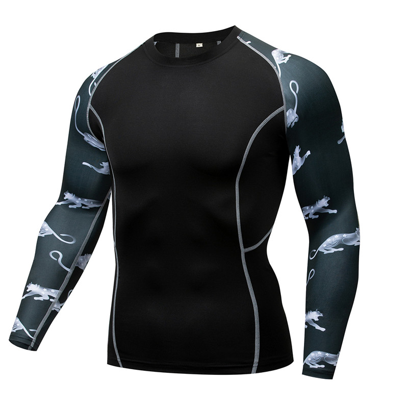Catty Men MMA Tshirt Compression shirts Cosplay Spring Autumn T shirt Quick Dry Fitness Compression Shirt Tight Bodybuilding Tee