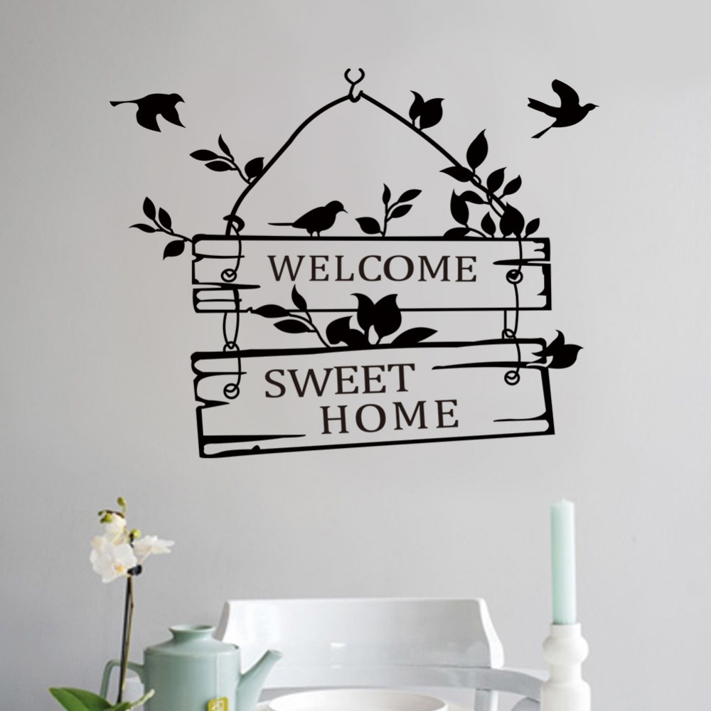 Wall stickers home sweet home - Aliexpress Com Buy Welcome Sweet Home Door Sign Decoration Wall Decals Zyva 8253 Na Decorative Vinyl Wall Stickers For Home From Reliable Stickers For