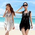 New Woman Bikini Smock Swimwear Cover Up Beach Dress Swimsuit Sexy Bath Suits Pareo Hole Tunic Overall Crochet Loose Tanks Camis
