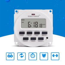 Dual Outlet LCD Digital DC AC 1.2V Electronic Timer Weekly Relay Switch Control Power Programmable Time for Lights Application