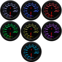 2 52mm 7 Colors LED Car Water Temp Gauge 40 140 Celsius Water Temperature Meter High Speed Stepper Motor With Sensor