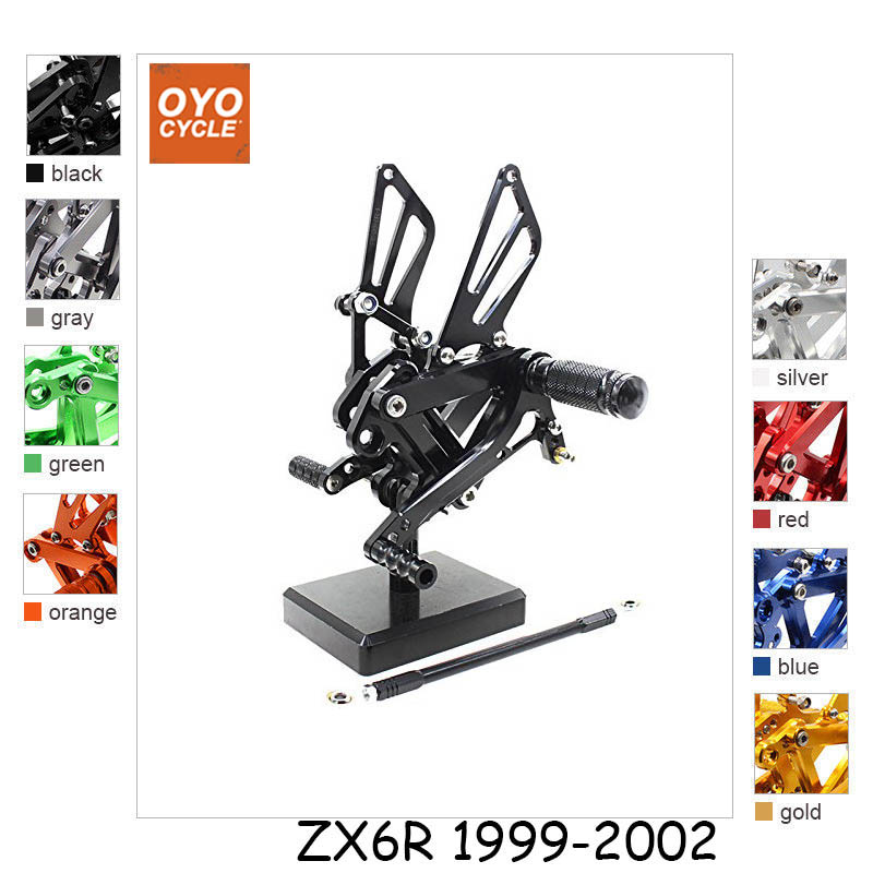 For Kawasaki Ninja 99-02 ZX6R ZX636 99-03 ZX9R 05-08 ZZR600 CNC Aluminum Adjustable Rear Set Foot Pegs Pedal Footrest Rearset padovan корм padovan naturalmix esotici для экзотических птиц основной 1 кг