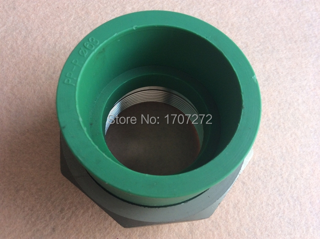 Free shipping Color Green DN 63X2F Enviroment friendly plastic ppr female union fittings [ericsson] ppr headed ho melt copper union ppr union ppr fittings ppr pipe fittings