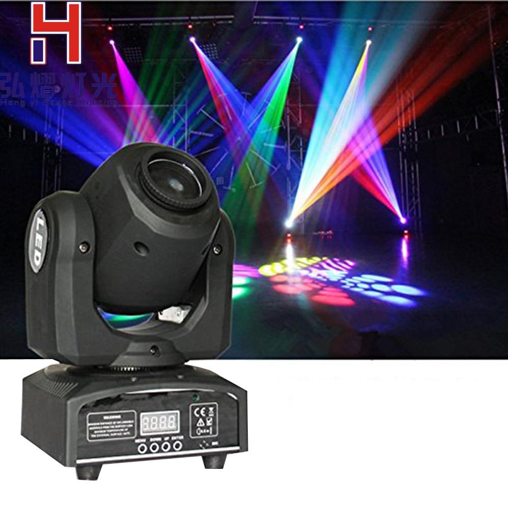 hongyistagelight 30W moving head DMX-512 Mini LED Spot Light for DJ Club Party Gobo Rainbow Stage PAR Show Disco Bar Lights цены