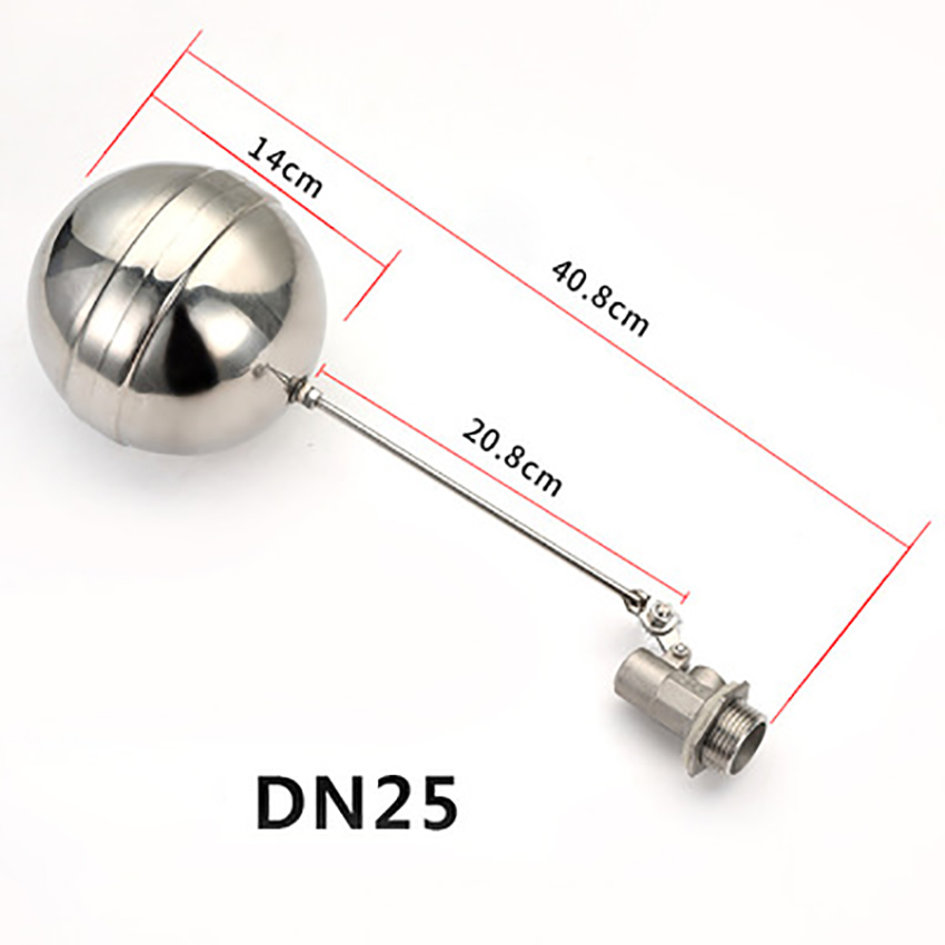 Adjustable Float Ball Valve DN25 Stainless Steel Floated Valve Water Tank Water Level Controll Valve Auto Filling/Stopping Water