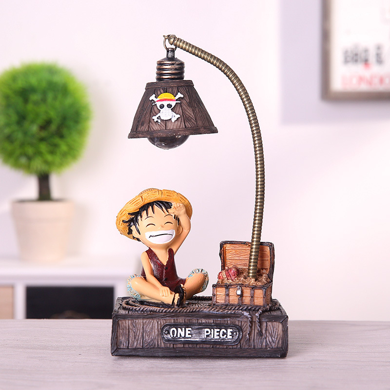 Resin Model Luffy Led Night Light Anime One Piece Toys For Kids Chopper Figure Birhthday Gifts