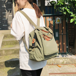 Image 2 - Cute Student Waterproof Backpack Female Women Vintage School Bag Girl ladies Nylon Backpack Long handle Book Bag Fashion Teenage