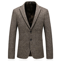 2019 Men's Winter Blazer Masculino Slim Fit Good Quality Wool Men Suit Jacket Blazers Plus Size Suit Jacket Men