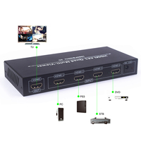 4X1 HDMI Multi Viewer HDMI Quad Screen Real Time Multi Viewer HDMI Splitter Seamless Switcher 1080P