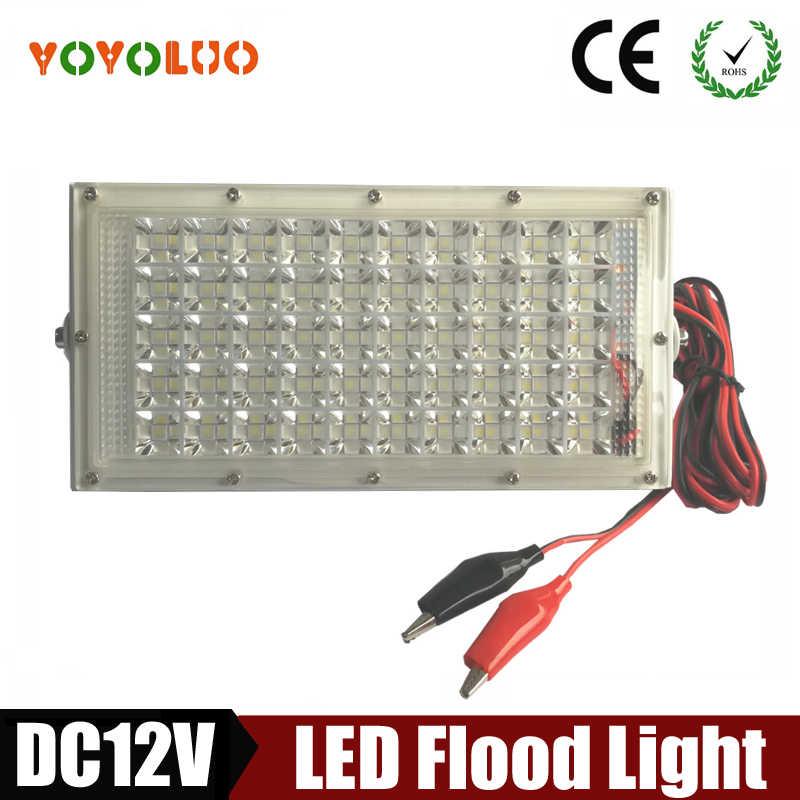Led Overstroming Licht DC12V Waterdichte IP65 40 W DC12V 3 M krokodil klem LED Spotlight Refletor Outdoor verlichting Wandlamp schijnwerper