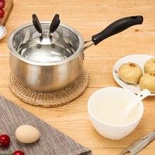 304 нержавеющая сталь мгновенная лапша кастрюля детская пищевая добавка горшок 16 см Многофункциональный маленький суп горшок