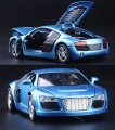 1:32 kids toys AUDI R8 metal toy cars model for children music pull back car miniatures gifts for boys