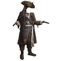 Карибский пират взрослых для мужчин Grand Heritage коллекция Deluxe костюм Джек Воробей Роскошные пальто комплект