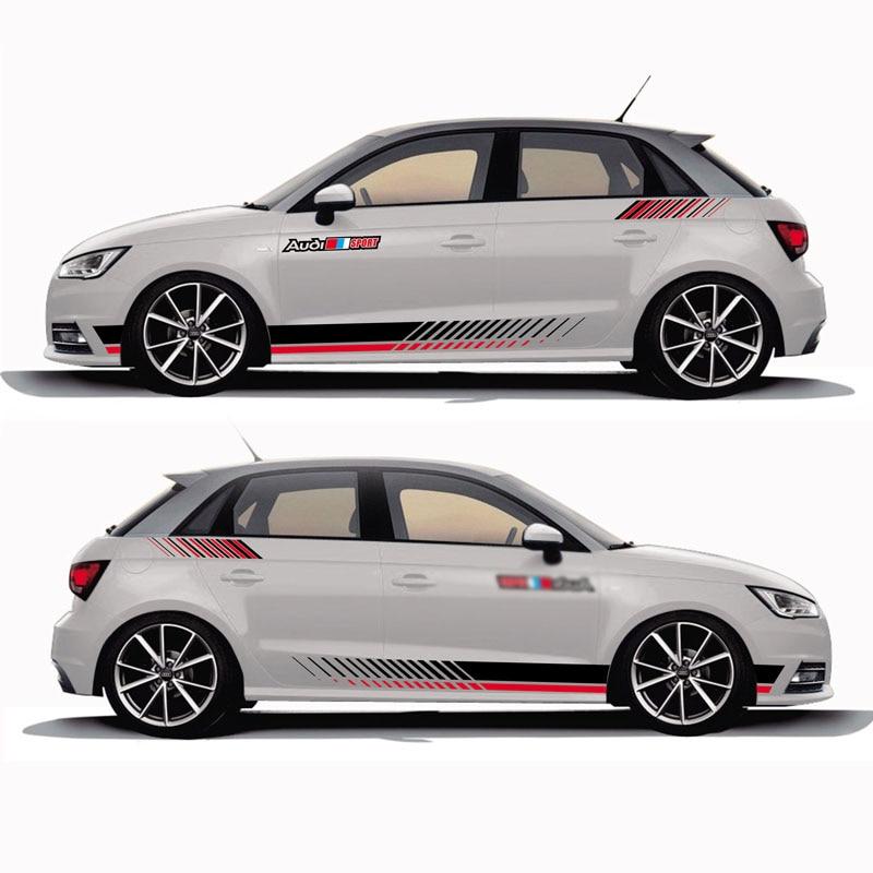 TAIYAO voiture style sport voiture autocollant pour Audi A1 30 TFSI Sportback S ligne marque Levinson voiture accessoires et décalcomanies auto autocollant