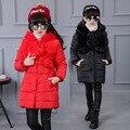 2016 nova Britânico algodão-acolchoado jaqueta de inverno das crianças brasão das crianças das crianças em crianças bola de cabelo de algodão roupas