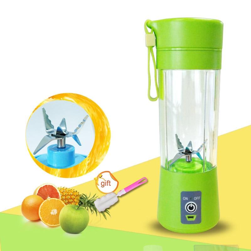 400 ml de jugo portátil licuadora USB exprimidor taza Multi-función de mezclador seis hoja máquina de mezcla de batidos comida de bebé dropshipping. exclusivo.