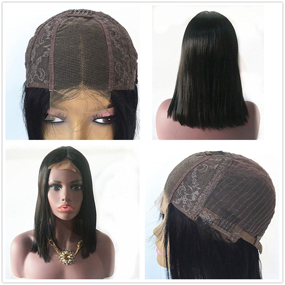 HTB1HUJobgFY.1VjSZFqq6ydbXXag 13x4 Bob Lace Front Human Hair Wigs Middle Deep Part Brazilian Lace Front Non-remy Hair Wigs with Baby Hair Halo Lady Beauty