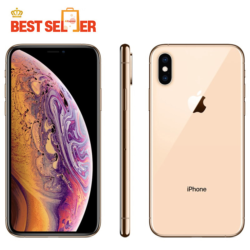 Original Apple iPhone Xs 5.8 Inch RAM 4GB ROM 64GB/256GB/512GB Mobile Phone LTE Hexa Core Dual 12MP IOS12 Face ID NFC A12 Bionic(China)