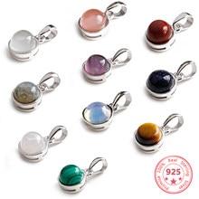 91843d35d Hot Sale 100% 925 Sterling Silver Customizable Natural Malachite  Labradorite Crystal Agate Opal Tigereye Gem Pendants Jewelry