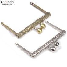 10pcs Lot 10.5cm Metal Purse Frame Handle for Clutch Bag Handbag Accessories Making Kiss Clasp Lock Antique Bronze Bags Hardware